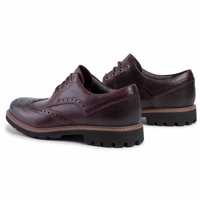 Chaussures basses CLARKS Batcombe Wing 261430487 Burgundy Leather