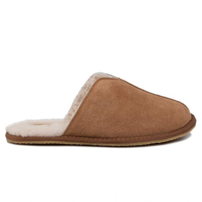 Chaussons CLARKS - Kite Seam 261447227  Tan Suede - Chaussons - Mules et sandales - Homme
