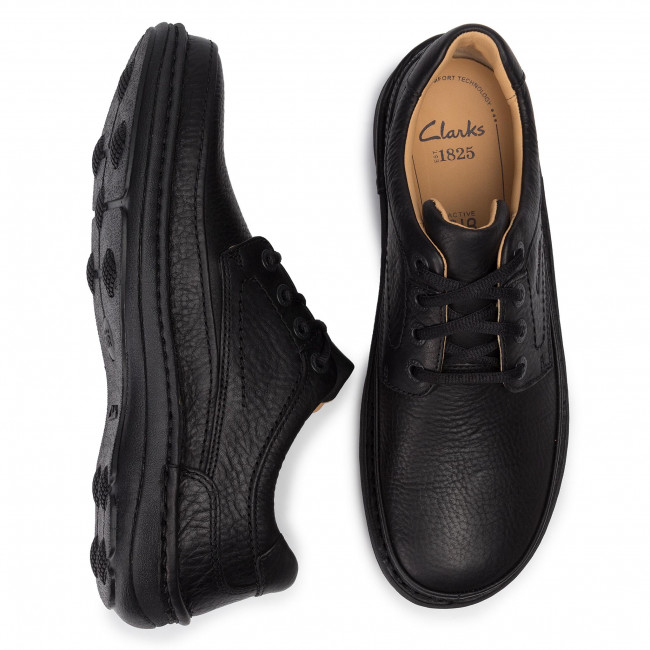 Chaussures Black Leather Three Nature Clarks Basses 203390087 nk8wPN0OX