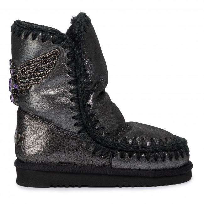 Chaussures MOU Eskimo 24 Eagle Patch Microglitter Black