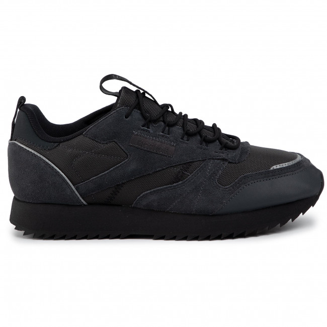 reebok classic leather winter rippel homme chaussures noir
