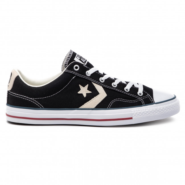 Ox 144145c milk Player Converse Star Sneakers Black DHY9IWE2eb