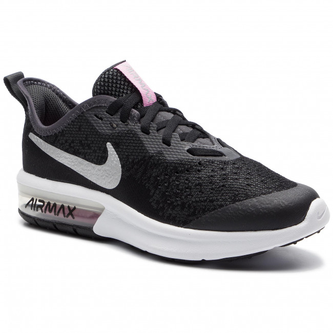 Chaussures NIKE Air Max Sequent 4 (Gs) BlackMetallic Silver