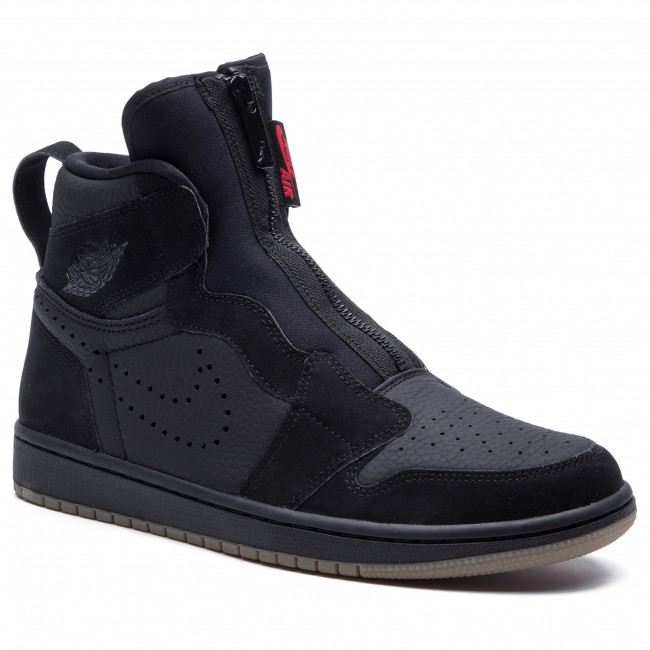 nouveau style 47f5f 7d8ad Chaussures NIKE - Air Jordan 1 High Zip AR4833 002  Black/University/Red/Black
