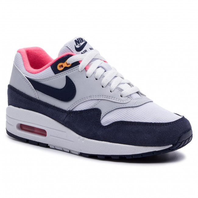 Chaussures NIKE Air Max 1 319986 116 WhiteMidnight Navy