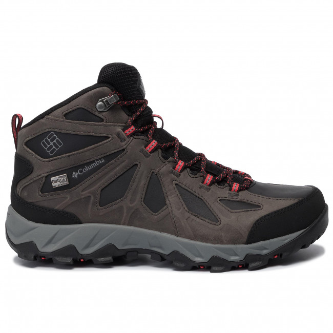 Chaussures de trekking COLUMBIA Lincoln Pass Mid Ltr Outdry YL5365 BlackRed Camellia 010