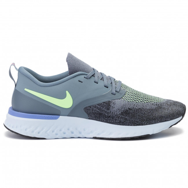 Chaussures NIKE Odyssey React 2 Flyknit AH1015 401 Armory BlueLime BlastBlack