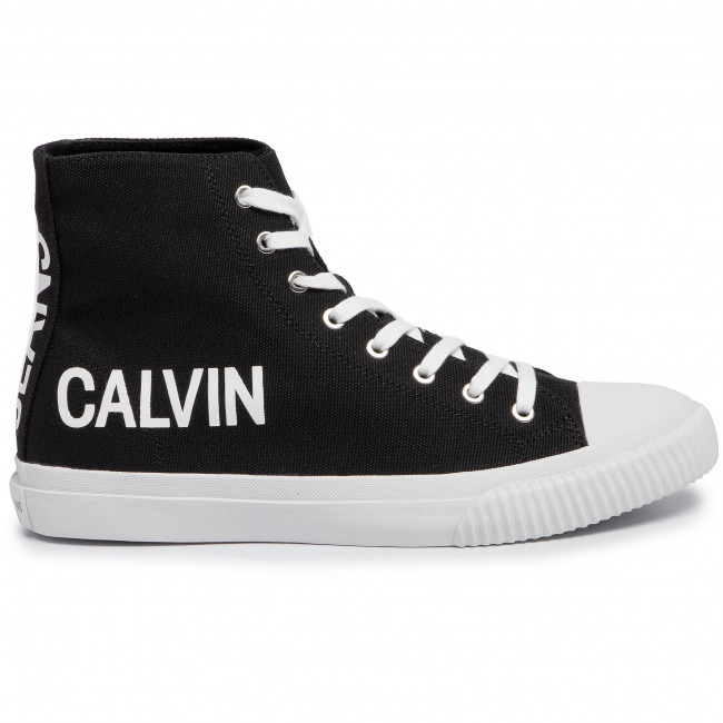 Sneakers Calvin Klein Jeans - Iacopo Canvas S0597 Black Baskets Chaussures Basses Homme