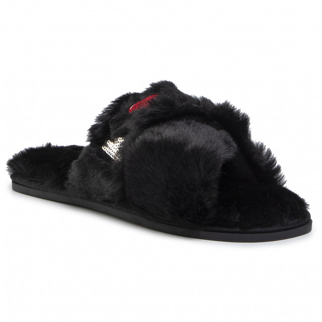 abordables Chaussons KARL LAGERFELD - KL49005 Black Wool - Chaussons - Mules et sandales - Femme  Prendre plaisir