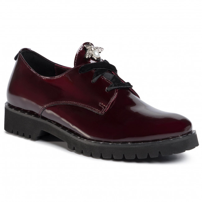 abordables Richelieus & Derbies KARINO - 2934/009-P  Bordo - Richelieus & Derbies - Chaussures basses - Femme  Prendre plaisir