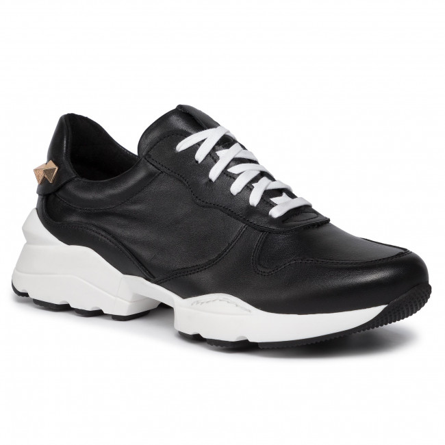 abordables Sneakers KARINO - 3141/053 Biuało/Czarny - Sneakers - Chaussures basses - Femme  Prendre plaisir