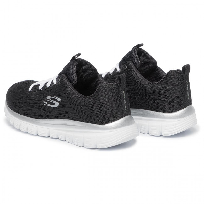 Chaussures SKECHERS - Get Connected 12615/BKW  Black/White - Fitness - Chaussures de sport - Femme