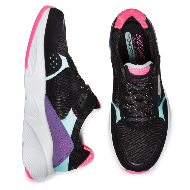 Chaussures SKECHERS - No Worries 13020/BKMT Black/Multi - Fitness - Chaussures de sport - Femme