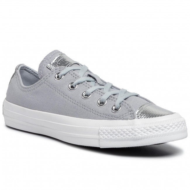 abordables Sneakers CONVERSE - Ctas Ox 565202C Wolf Grey/Wolf Grey/White - Baskets - Chaussures basses - Femme  Prendre plaisir