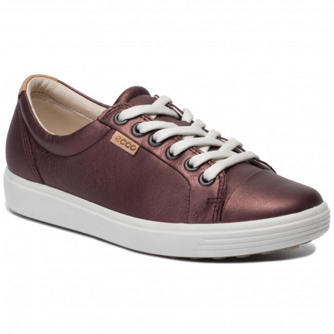 abordables Chaussures basses ECCO - Soft 7 W 43000351485 Fig Metallic - Plates - Chaussures basses - Femme  Prendre plaisir