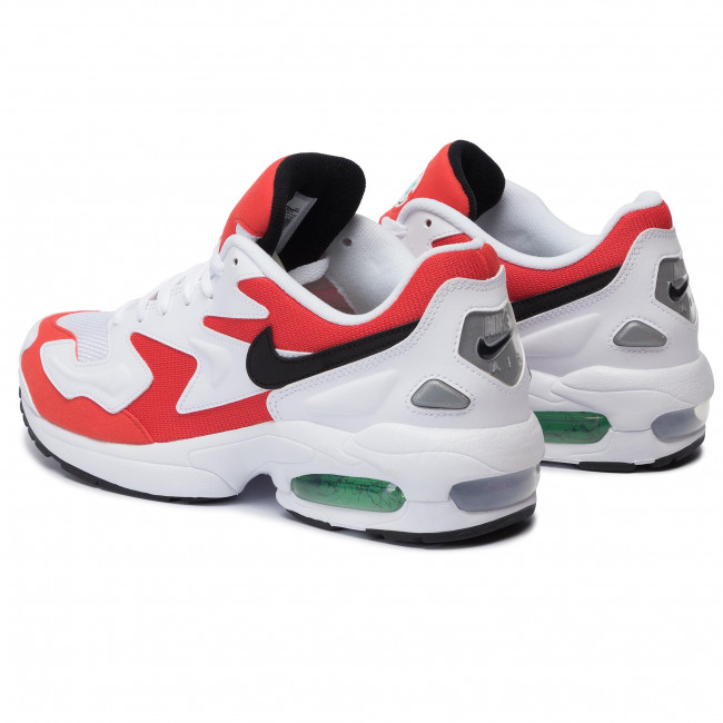Chaussures NIKE Air Max2 Light AO1741 101 WhiteBlackHabanero Red