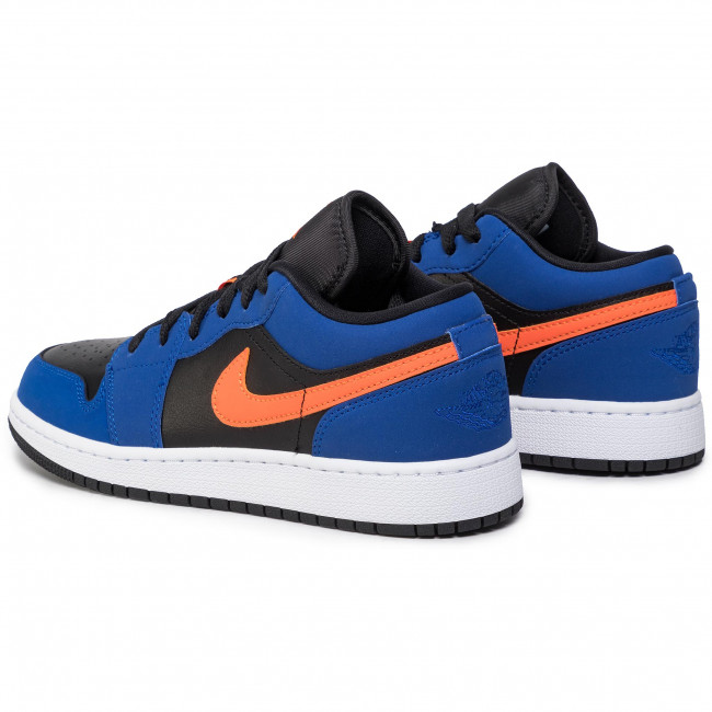 Chaussures NIKE Air Jordan 1 Low (Gs) 553560 480 Rush BlueBrillant Orange