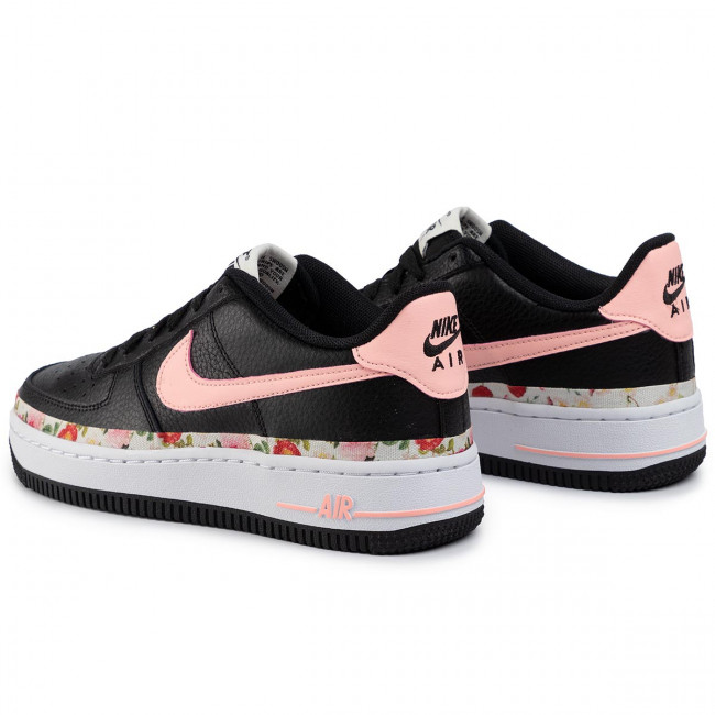 Chaussures NIKE Air Force 1 Vf (Gs) BQ2501 001 BlackPink TintWhite