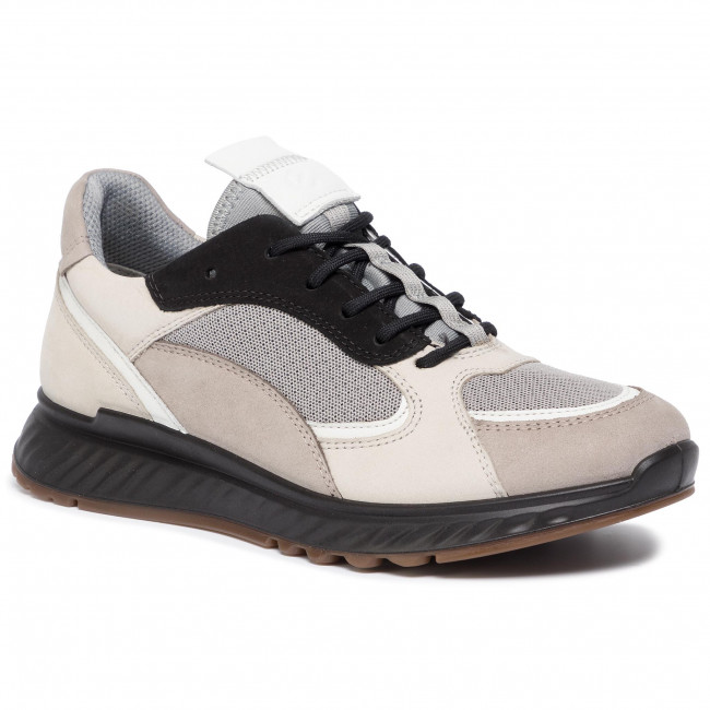 abordables Sneakers ECCO - St.1 W 83627351560  Moon Rock/White/Gravel/Black - Sneakers - Chaussures basses - Femme  Prendre plaisir