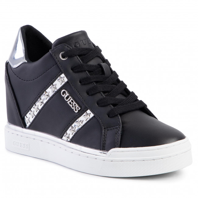 abordables Sneakers GUESS - Fayne FL5FAY ELE12  BLACK/SILVER - Sneakers - Chaussures basses - Femme  Prendre plaisir