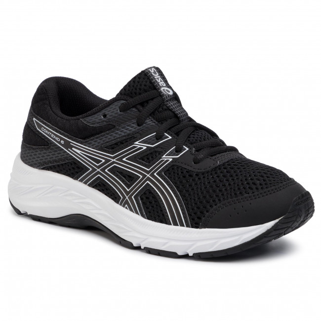Chaussures ASICS - Contend 6 Gs 1014A086 Black/White 001