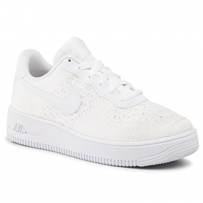 Chaussures NIKE Air Force 1 Flyknit 2.0 (GS) BV0063 100 WhiteWhiteWhite