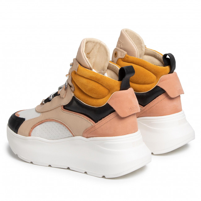 Sneakers BRONX - 47240-AB Black/O.White/Taupe/Mustard 3364 - Sneakers - Chaussures basses - Femme