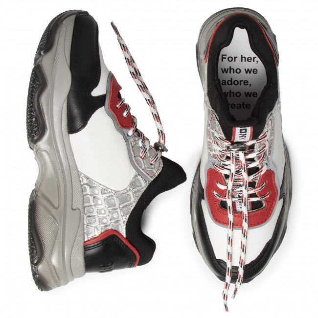 Sneakers BRONX - 66167E-ML Black/Red/White/Silver - Sneakers - Chaussures basses - Femme
