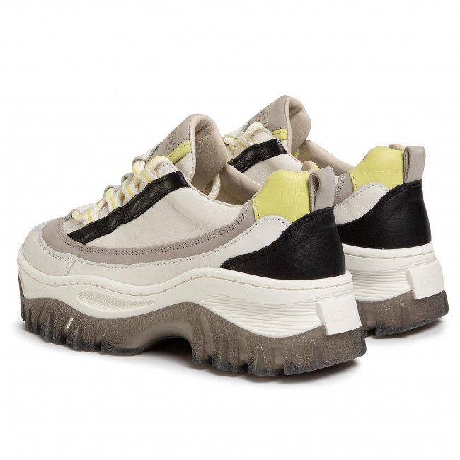 Sneakers BRONX - 66305-AB Off White/L.Grey/Lime  - Sneakers - Chaussures basses - Femme