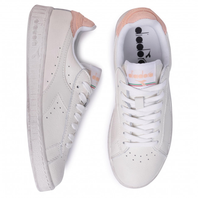 Sneakers Diadora - Game L Low Waxed 501.160821 01 C8633 White/pale Peach Chaussures Basses Femme