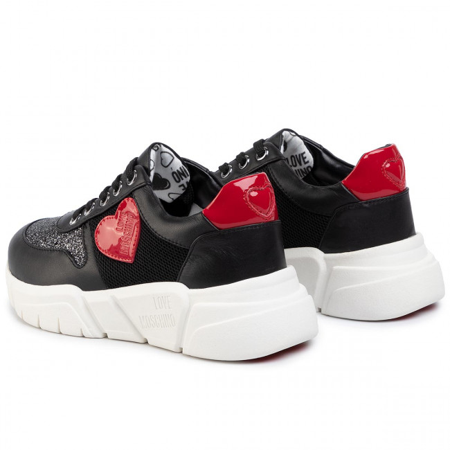Sneakers LOVE MOSCHINO - JA15453G1AIQ400A Ne/Arge/Rosso - Sneakers - Chaussures basses - Femme