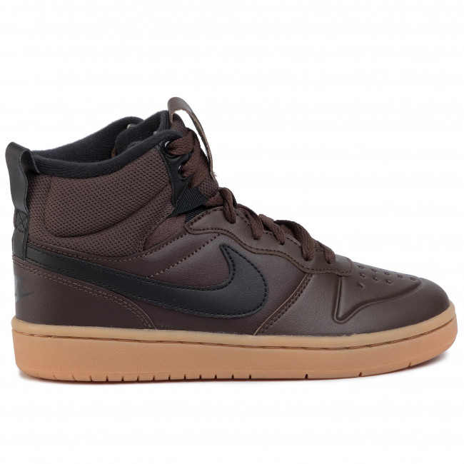 Chaussures NIKE - Court Borough Mid 2 Boot (GS) BQ5440 200 Baroque Brown/Black - Sneakers - Chaussures basses - Femme