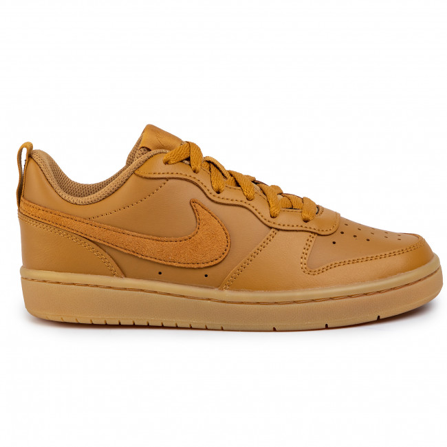 Chaussures NIKE - Court Borough Low 2 (Gs) BQ5448 700 Wheat/Wheat Gum/Light Brown - Sneakers - Chaussures basses - Femme