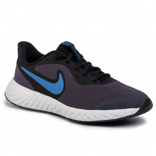 Chaussures NIKE Revolution 5 (GS) BQ5671 009 GridironMountain BlueBlack