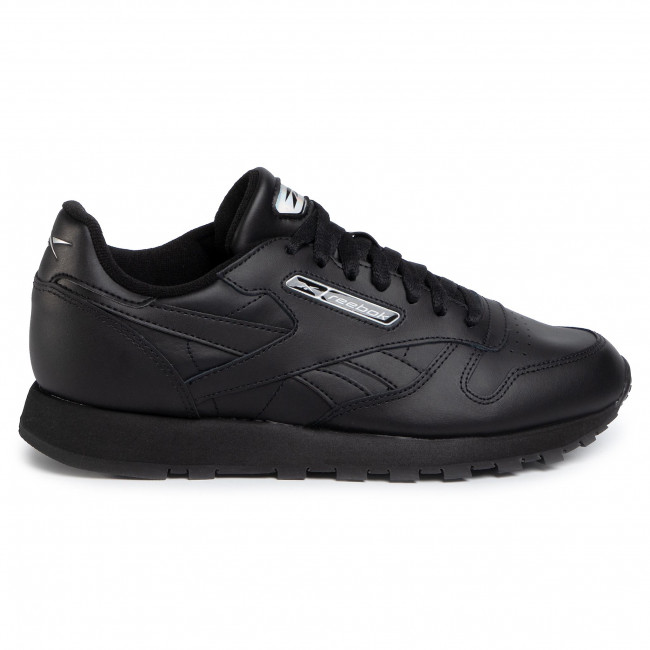 Chaussures Reebok - Cl Leather Mu Eg3622 Black/white/silvmt Sneakers Basses Homme