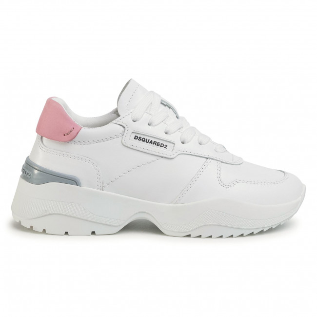 Sneakers Dsquared2 - Lace-up Low Top Snw0075 11100001 M595 Bianco/rosa Chaussures Basses Femme