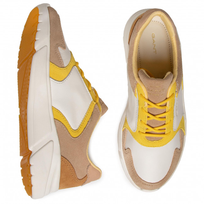 Sneakers GANT - Cocoville 20531536 Br.Wht./Beige/Yellow G294 - Sneakers - Chaussures basses - Femme