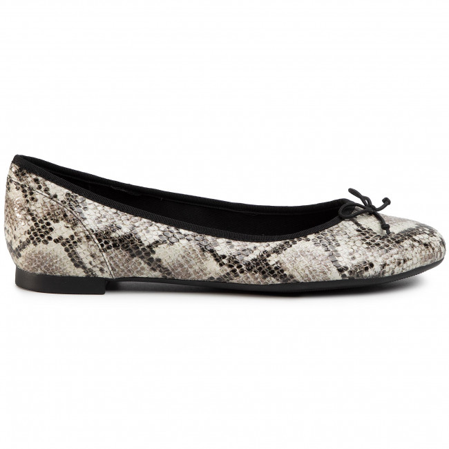 Ballerines Clarks - Couture Bloom 261505774 Grey Snake Chaussures Basses Femme