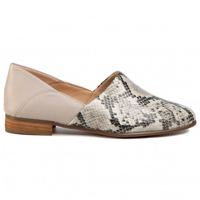 Chaussures Basses Clarks - Pure Tone 261497474 Grey Snake Plates Femme