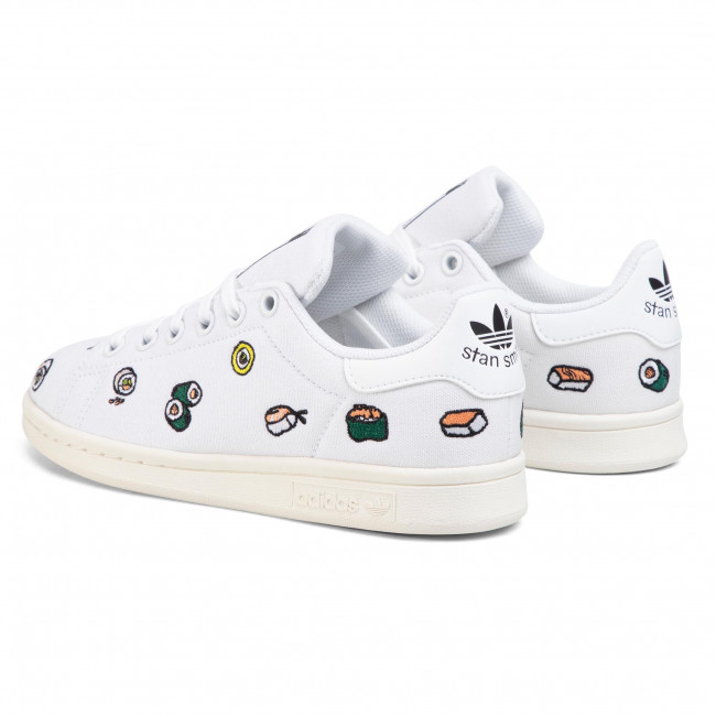 Chaussures Adidas - Stan Smith J Ef5469 Ftwwht/ftwwht/cblack Sneakers Basses Femme