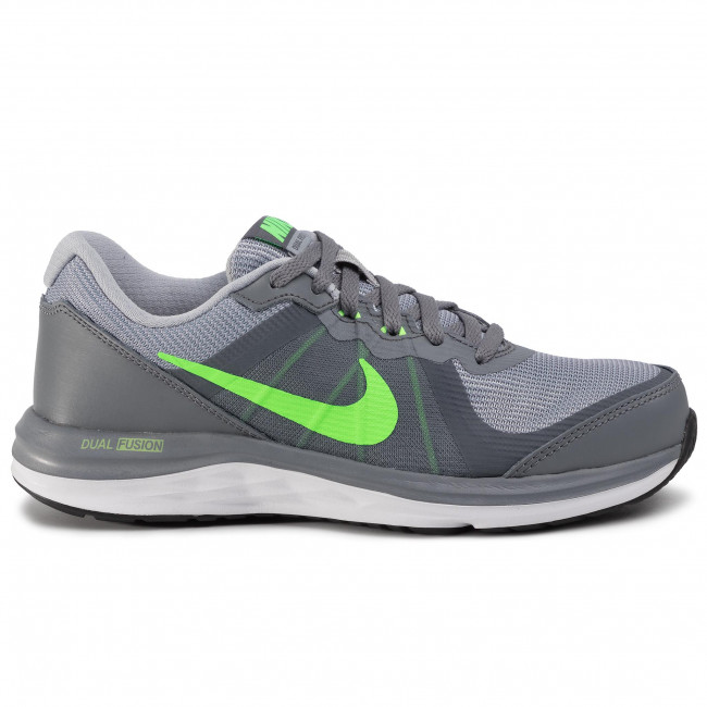 Chaussures NIKE Dual Fusion X 2 (GS) 820305 003 Cool GreyVltg GrnWlf GryWht