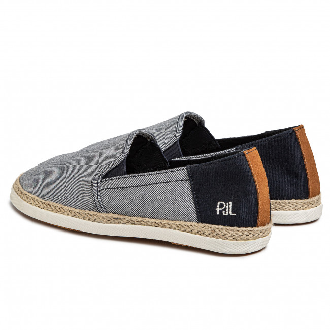 Espadrilles PEPE JEANS - Maui Slip On Twill PMS10283  Navy 595 - Espadrilles - Chaussures basses - Homme