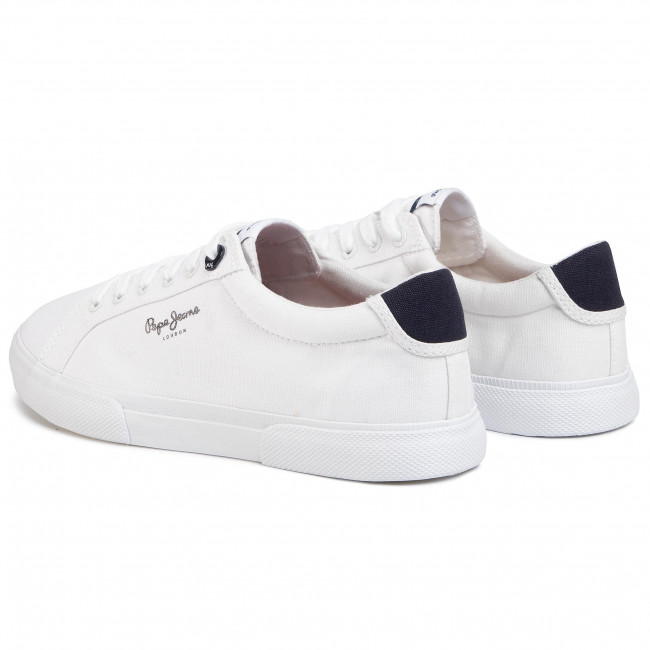 Tennis PEPE JEANS - Kenton Basic Man PMS30604 White 800 - Baskets - Chaussures basses - Homme
