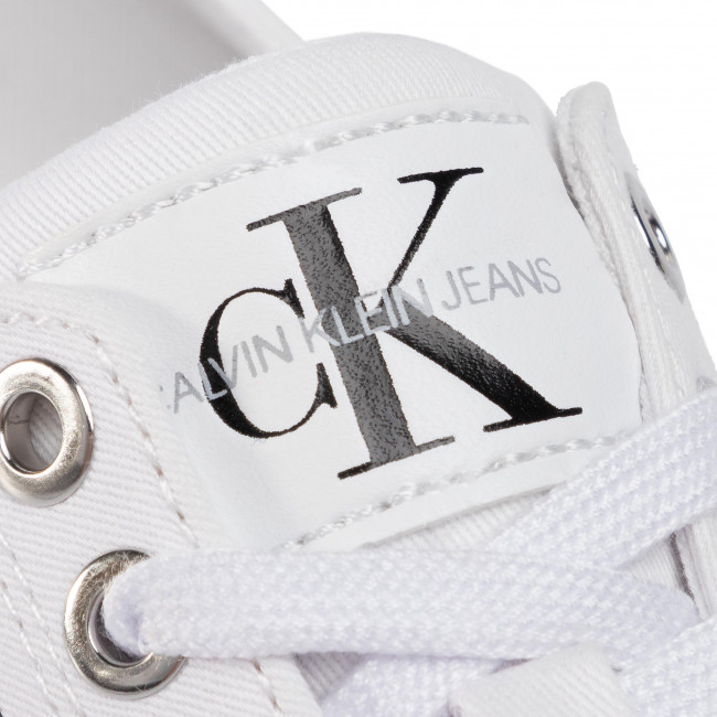 Tennis CALVIN KLEIN JEANS - Diamante B4R0896  White - Baskets - Chaussures basses - Femme