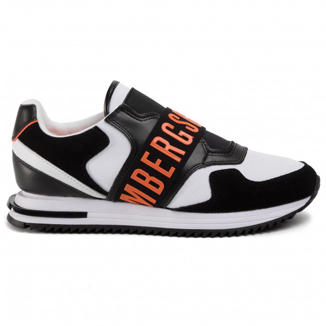 Sneakers BIKKEMBERGS - Haled B4BKM0053  Black/White/Orange  - Sneakers - Chaussures basses - Homme