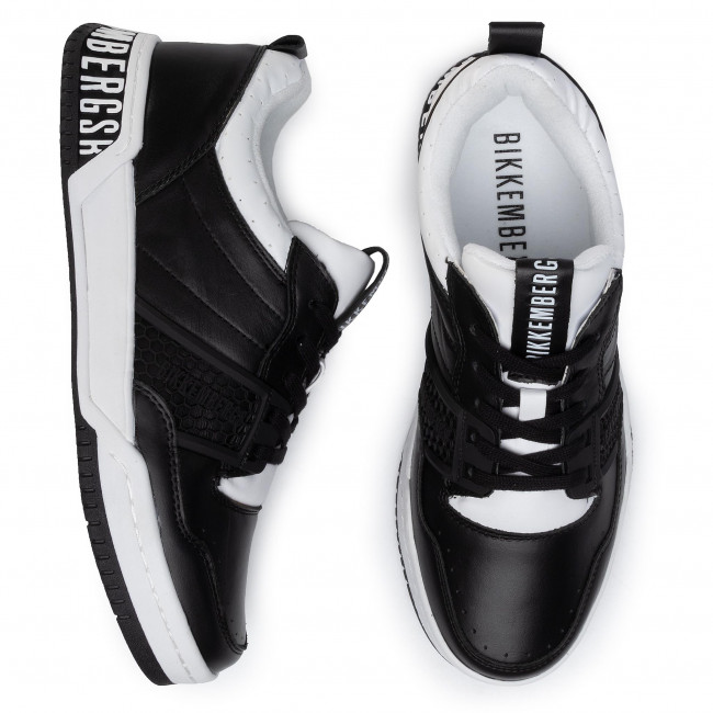 Sneakers BIKKEMBERGS - Low Top Lace Up B4BKM0085 Black/White - Sneakers - Chaussures basses - Homme