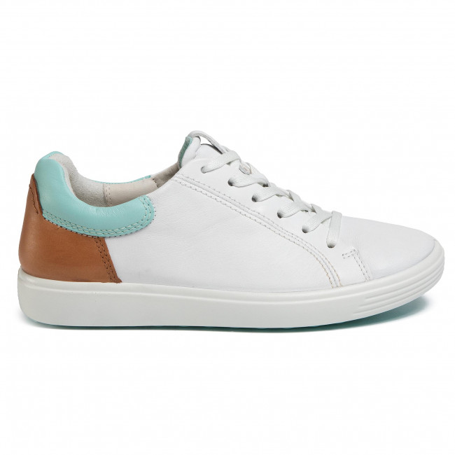 Sneakers Ecco - Soft 7 W 47009351895 White/eggshall Blue/lion Chaussures Basses Femme