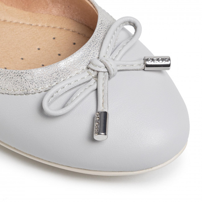 Ballerines Geox - D Charlene B D02y7b 054pv C1355 Lt Grey/silver Chaussures Basses Femme