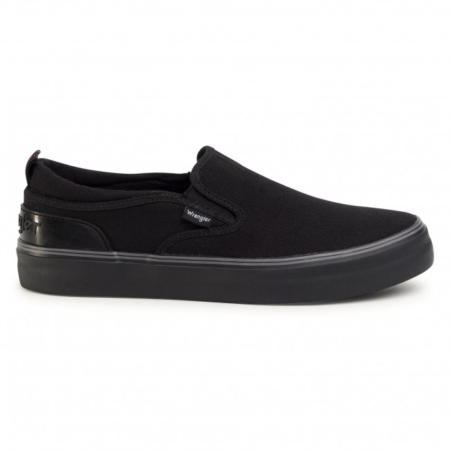 Tennis WRANGLER - Epic Slip On S WM01022S  Black 062 - Baskets - Chaussures basses - Homme