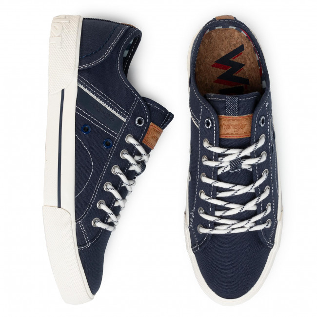 Tennis WRANGLER - Globe WM01054A Navy 016 - Baskets - Chaussures basses - Homme